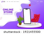 online store landing page...