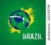 brazil football background.... | Shutterstock .eps vector #192145739