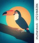 toucan bird portrait in vintage ...   Shutterstock .eps vector #1921468286