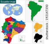 map of the republic of ecuador... | Shutterstock .eps vector #192147350