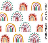 seamless vector pattern with an ... | Shutterstock .eps vector #1921476980