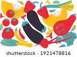 set vegetables abstract vector...   Shutterstock .eps vector #1921478816