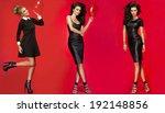 three beautiful fashionable... | Shutterstock . vector #192148856