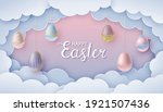 happy easter greeting card in... | Shutterstock .eps vector #1921507436