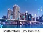 skyscrapers of dubai business...