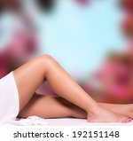 Small photo of Beautiful legs with blur background