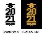 lettering class of 2021 for...   Shutterstock .eps vector #1921522730