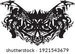 ornamental black and white mask ... | Shutterstock .eps vector #1921543679