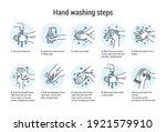 hands wash manual. algorithm... | Shutterstock .eps vector #1921579910