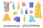 towels. cartoon terry cloth... | Shutterstock .eps vector #1921579943