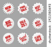 realistic tilted price tags... | Shutterstock .eps vector #1921583693