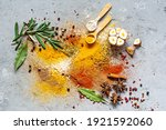 Various Spice Powders  Paprika  ...