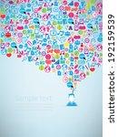 template design businessman... | Shutterstock .eps vector #192159539