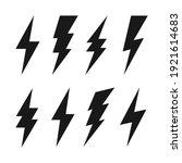 lightning bolt icons collection.... | Shutterstock .eps vector #1921614683