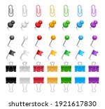 pins and paper clips set.... | Shutterstock .eps vector #1921617830