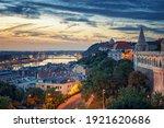 budapest cityscape buda castle...   Shutterstock . vector #1921620686