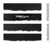 ripped black paper strips....   Shutterstock .eps vector #1921626233