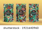 set of tea packaging design... | Shutterstock .eps vector #1921640960