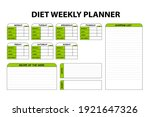 colored cute diet weekly... | Shutterstock .eps vector #1921647326
