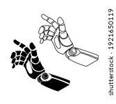 mechanical arm icon vector...   Shutterstock .eps vector #1921650119