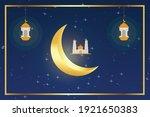 ramadan 2021 background design... | Shutterstock .eps vector #1921650383