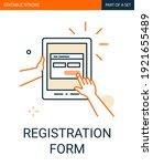 registration form icon. tablet...