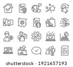 technology icons set. included... | Shutterstock .eps vector #1921657193