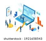 isometric 3d business... | Shutterstock .eps vector #1921658543