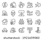 people icons set. included icon ...   Shutterstock .eps vector #1921659083