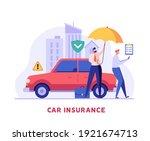 car insurance vector... | Shutterstock .eps vector #1921674713