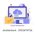 cloud technology. people... | Shutterstock .eps vector #1921674716