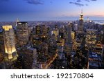 new york city skyline ... | Shutterstock . vector #192170804