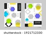 memphis design cover collection.... | Shutterstock .eps vector #1921712330