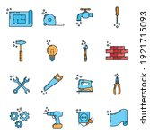 big set of repair house 16 icon ... | Shutterstock .eps vector #1921715093