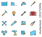 big set of repair house 16 icon ...   Shutterstock .eps vector #1921715096