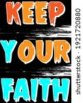 keep your faith typography t... | Shutterstock .eps vector #1921720880