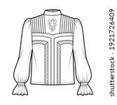 victorian blouse technical...   Shutterstock .eps vector #1921726409