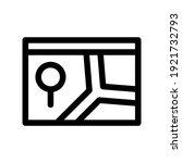 navigation app icon or logo...