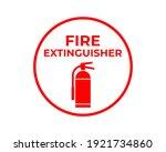 fire extinguisher sign vector ...   Shutterstock .eps vector #1921734860