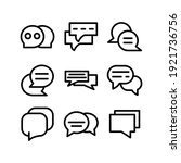 chat icon or logo isolated sign ... | Shutterstock .eps vector #1921736756