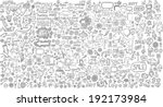 mega doodle design elements... | Shutterstock .eps vector #192173984