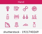 premium set of hand line icons. ... | Shutterstock .eps vector #1921740269