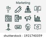 premium set of marketing icons. ... | Shutterstock .eps vector #1921740359