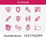 premium set of outbreak line... | Shutterstock .eps vector #1921742399