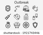 premium set of outbreak  s ... | Shutterstock .eps vector #1921743446