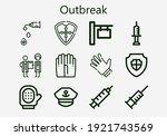 premium set of outbreak  s ... | Shutterstock .eps vector #1921743569
