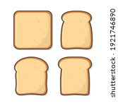 set of slices toast bread... | Shutterstock .eps vector #1921746890