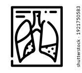 complications or pneumonia line ... | Shutterstock .eps vector #1921750583