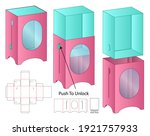 box packaging die cut template... | Shutterstock .eps vector #1921757933