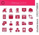 startup online icon set. 20...